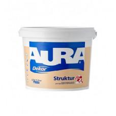 Краска Aura Dekor Structur структурная для фасадов и интерьеров 10 л.