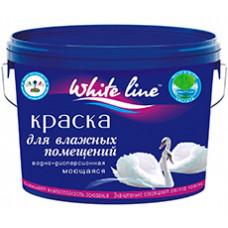 """Краска водно-дисперсионная для влажных помещений """"WHITE LINE"""" 14 кг"""