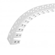 Уголок пластиковый перфорированный арочный ПВХ L=3м