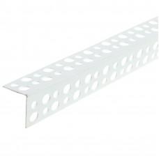 Угол пластиковый перфорированный ПВХ 25х25 L=3м